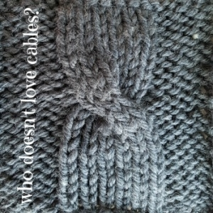 who doesn't love hand-knit cables
