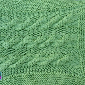 Braid-Hand-Knit-Blanket