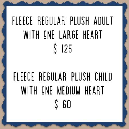 vancouver custom fleece regular plush price