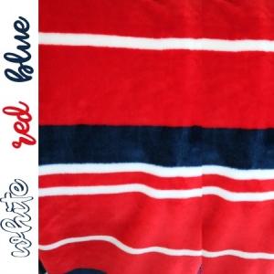 deluxe fleece stripes red white blue