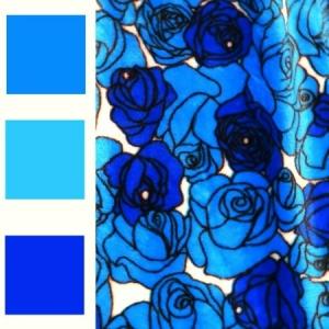 fleece deluxe roses pattern new