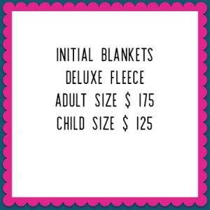 made in vancouver initial blankets custom fleece