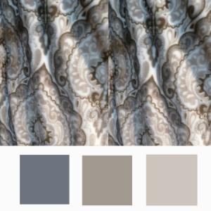 fleece blanket paisley pattern