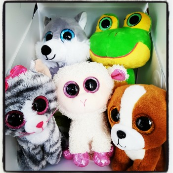 children gift bag with stuffed toy